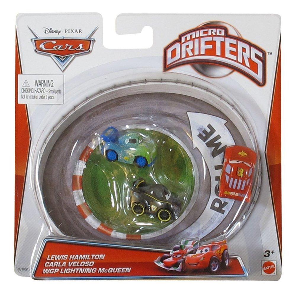 Micro Drifters - Lewis Hamilton, Carla Veloso si Fulger McQueen - set de 3